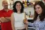 Os investigadores Manuel Coimbra, Elisabete Coelho e Rita Bastos e o pastel de nata que quer conquistar o mercado internacional