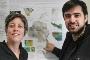 A investigadora Caroline Lavoie do GEO, especialista em ciências polares, e Ricardo Correia