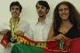 Ricardo Alexandre Silva (à esquerda) com alguns dos elementos da comitiva nacional presente na Olímpiada Ibero-Americana