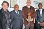 A delegação do INED em visita à UA