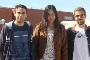 Os estudantes Bruno Ladeira, Laura Cabete e Paulo Vasconcelos
