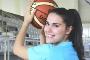 A campeã nacional de basquetebol Mariana Bonito, estudante da Licenciatura em Educação Básica