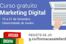 Curso gratuito Marketing Digital vai realizar-se na UA